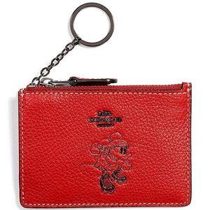 Coach Minnie Mouse Mini Id Case Card Holder